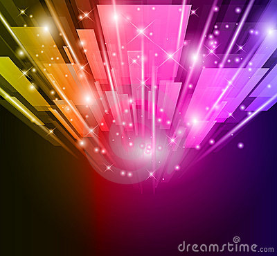 Abstract Glow of lights for Business Flyers