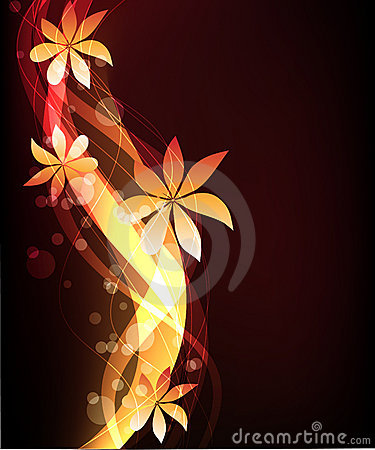 Abstract glowing background -  illustration