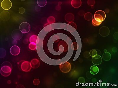 Abstract glowing circle