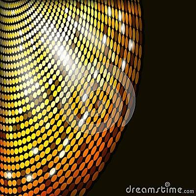 Abstract glowing circles mosaic