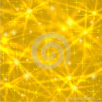 Free Abstract Gold Background With Sparkling Twinkling Stars. Cosmic Shiny Galaxy (atmosphere). Holiday Blank Texture For Christmas Royalty Free Stock Photos - 60043108