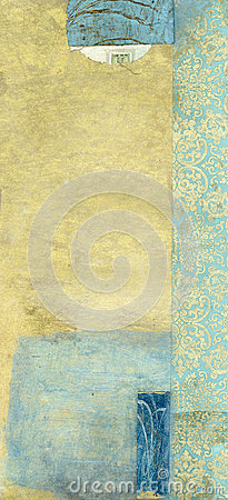 Abstract Gold And Blue