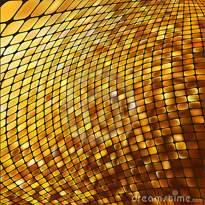 Abstract gold colored mosaic background. EPS 8