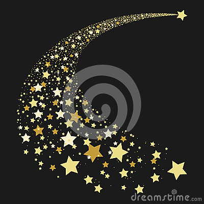 Free Abstract Gold Falling Star Stock Images - 74215864