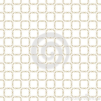 Vector abstract gold geometric seamless pattern. Delicate grid ornament Vector Illustration