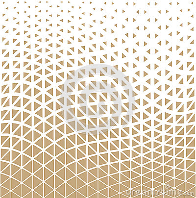 Abstract gold geometric triangle design halftone pattern Vector Illustration