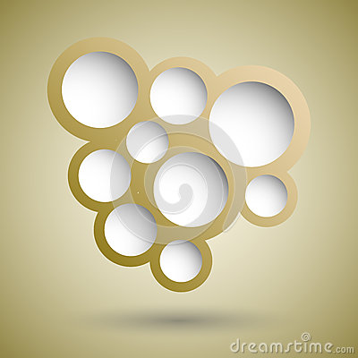 Free Abstract Gold Speech Bubble Background Stock Photos - 46666573