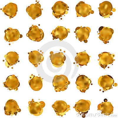 Free Abstract Gold Speech Bubble. EPS 8 Stock Images - 20242754