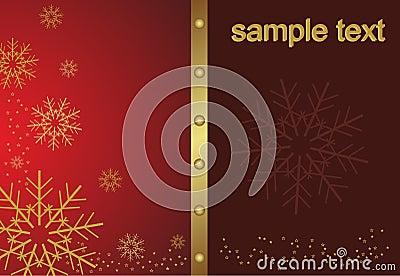 Abstract golden christmas snowflake
