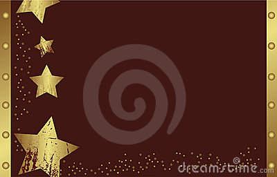 Abstract golden christmas star