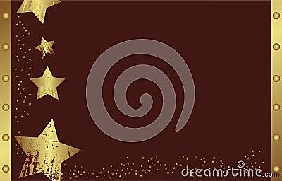 Abstract golden christmas star