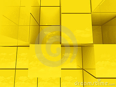 Abstract golden cubes