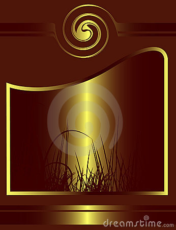 Abstract golden floral design