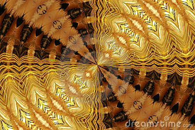 Abstract Golden Fur