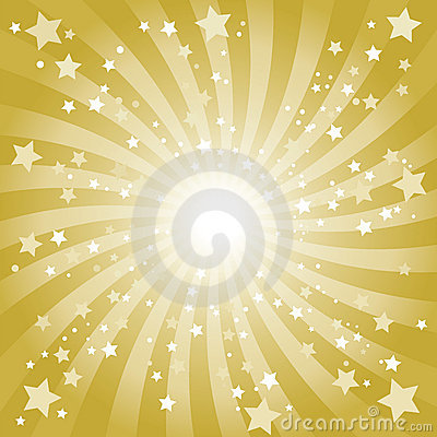 Free Abstract Golden Star Background Stock Images - 9946524