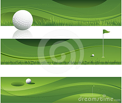 Abstract golf background