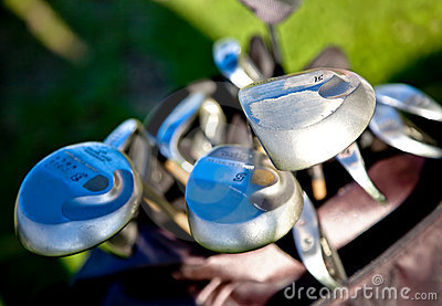Abstract golf clubs