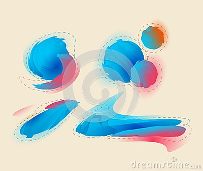 Abstract  graphic, background in 3d graffiti