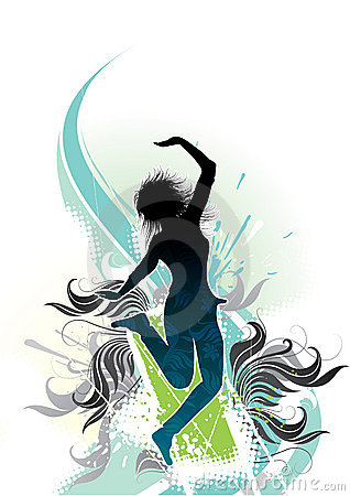 Abstract graphic of dancer