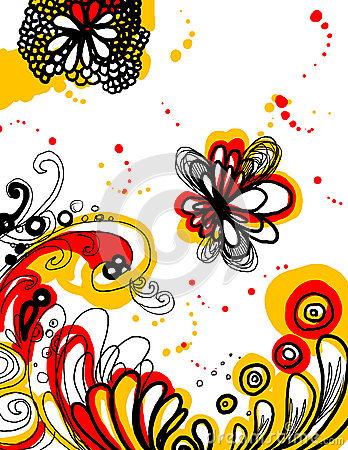 Abstract graphic flower illustration background