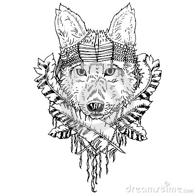Free Abstract Graphic Wolf, Print. Stock Images - 61329954