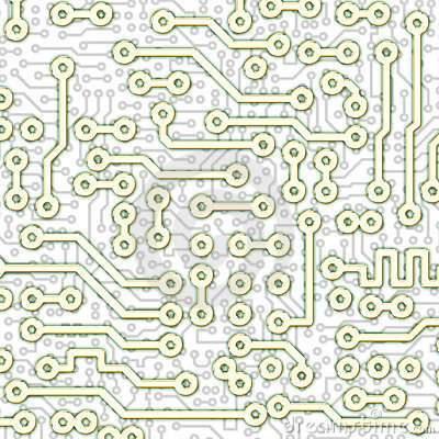 Abstract graphical circuit board light pattern
