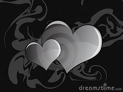 Abstract Gray Heart