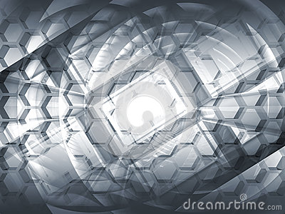 Abstract gray hi-tech concept 3d background