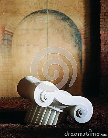 Abstract Greek column
