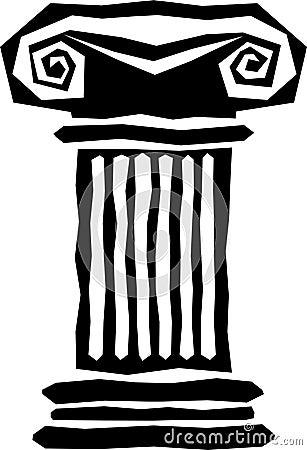 Free Abstract Greek Column/eps Royalty Free Stock Photo - 9105365