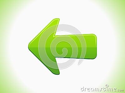 Abstract green arrrow icon