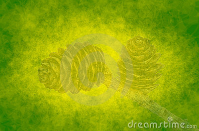 Abstract green background with cones