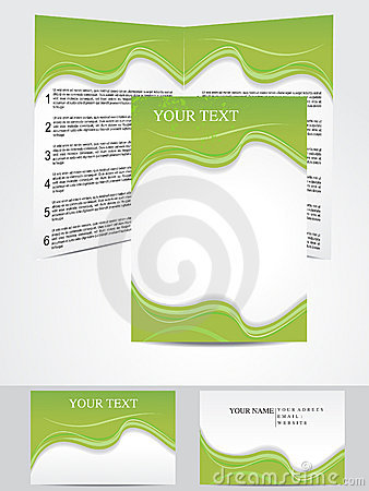 Abstract green based corporate design template