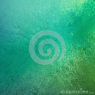 Abstract green and blue color splash background design with grunge texture Stock Photo