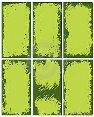 Abstract green borders
