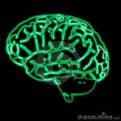 Abstract green brain