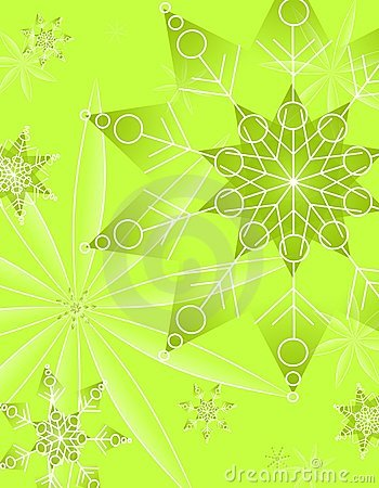 Abstract Green Christmas Pattern