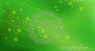 Abstract green circular background