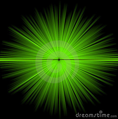 Abstract green cosmic background