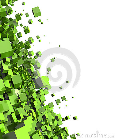 Free Abstract Green Cubes Background Royalty Free Stock Photo - 34917405
