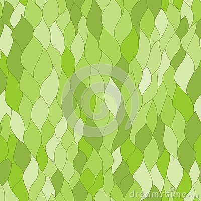Abstract green leafs seamless texture