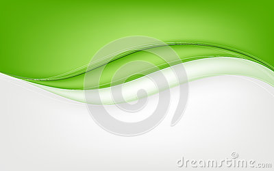 Abstract green wave background. Vector illustration Vector Illustration