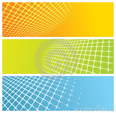 Free Abstract Grid Banners Royalty Free Stock Image - 8306286