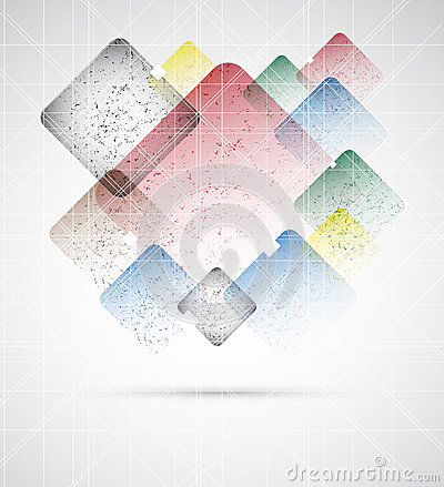 Abstract grunde boxes editable vector illustration