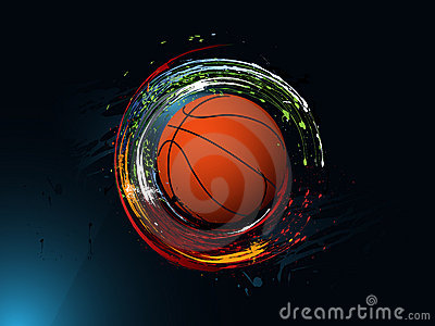 Abstract grunge background, Basketball
