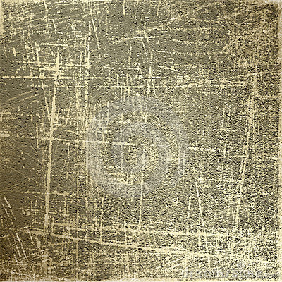 Abstract grunge background with gold scratches