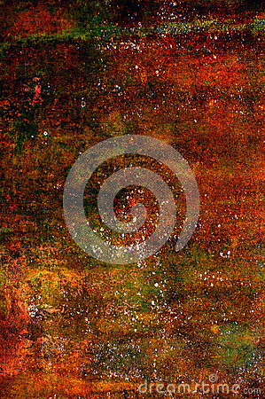 Abstract grunge background in red, orange and brown tones Stock Photo