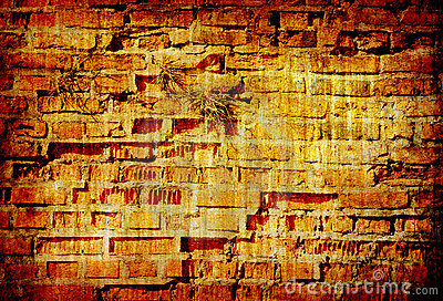 Abstract grunge background texture of brick wall