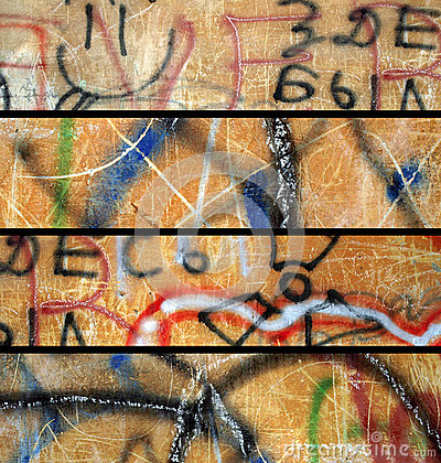 Abstract grunge banners set.