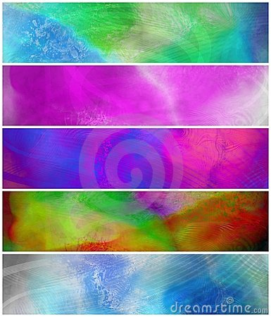 Abstract Grunge Colorful Banners